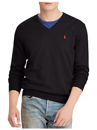 Polo Ralph Lauren Cotton V-Neck Sweater