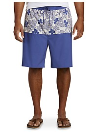 Rochester Colorblock Floral Swim Trunks