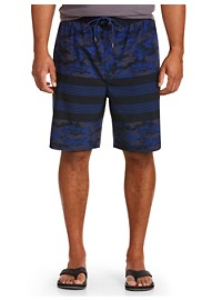 Rochester Camo Colorblock Swim Trunks