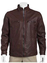Tommy Bahama Hudson Leather Aviator Jacket