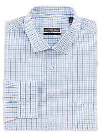 Geoffrey Beene Stripe/Plaid Dress Shirt
