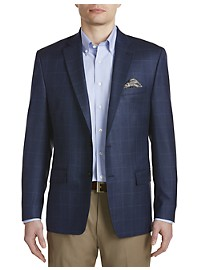 Ralph by Ralph Lauren Comfort Flex Windowpane Silk/Wool Sport Coat – Executive Cut