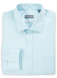Michael Kors Non-Iron Mini Dobby Stretch Dress Shirt