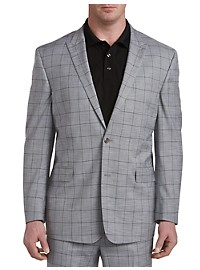 Geoffrey Beene Textured Windowpane Suit Jacket