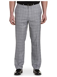 Geoffrey Beene Textured Windowpane Flat-Front Suit Pants