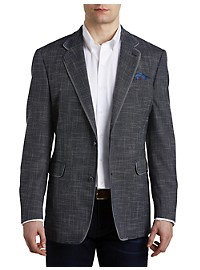 Tallia Orange Textured Solid Sport Coat – Executive Cut