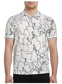 Perry Ellis Floral Polo Shirt