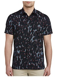 Perry Ellis Camo Stripe Stretch Sport Shirt
