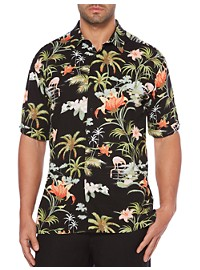 Cubavera Tropical Print Sport Shirt