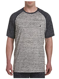 Nautica Space-Dye Baseball Tee