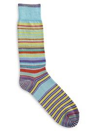 Robert Graham Amador Multi Stripe Socks
