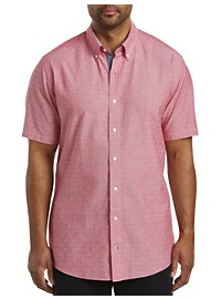 Nautica Diamond Dobby-Pattern Sport Shirt