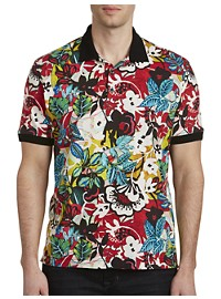 Robert Graham Barrio Floral-Print Polo Shirt