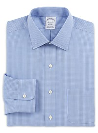 Brooks Brothers Non-Iron Micro Frame Gingham Dress Shirt
