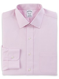 Brooks Brothers Non-Iron Micro Framed Gingham Broadcloth Dress Shirt
