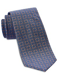 Michael Kors Outlined Medallion Neat Silk Tie