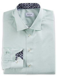 Eton Micro Check Dress Shirt