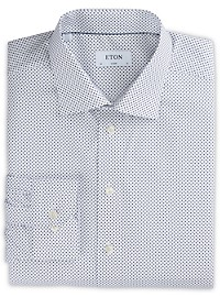 Eton Grounded Mini Dot Dress Shirt