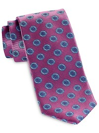 Robert Talbott Large Hex Medallion Silk Tie