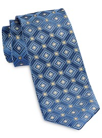 Robert Talbott Repeating Diamond Medallion Silk Tie