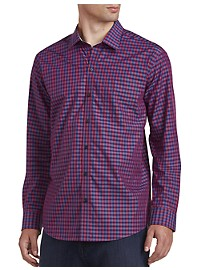 Cutter & Buck Non-Iron Myles Check Poplin Sport Shirt