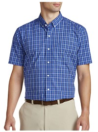 Cutter & Buck Easy-Care Leo Plaid Poplin Sport Shirt