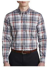 Brooks Brothers Non-Iron Dobby Plaid Sport Shirt