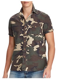 Polo Ralph Lauren Classic Fit Heritage Camo Oxford Sport Shirt