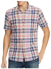 Polo Ralph Lauren Classic Fit Madras Plaid Sport Shirt