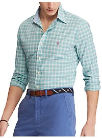 Polo Ralph Lauren Classic Fit Plaid Poplin Sport Shirt