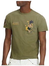 Polo Ralph Lauren Classic Fit Hula Girl Graphic Tee