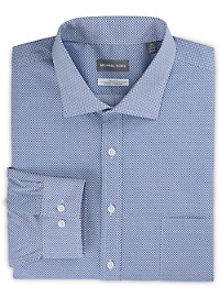 Michael Kors Non-Iron Mini Geo Print Stretch Dress Shirt