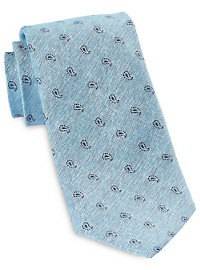 Jack Victor Small Repeating Paisley Silk Tie