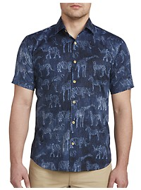 Jared Lang Animal Print Sport Shirt