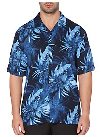 Cubavera Tropical Print Camp Shirt