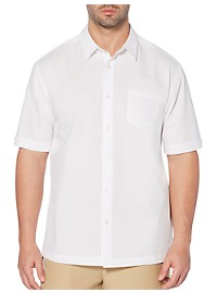 Cubavera Pickstitched Solid Sport Shirt