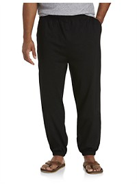 Harbor Bay Cinched-Hem Jersey Pants