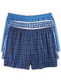 Harbor Bay 3-pk Plaid Woven Boxers