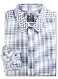Gold Series Wrinkle-Free Cool & Dry Check Dress Shirt