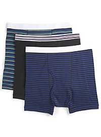 Harbor Bay 3-Pk Assorted Boxer Briefs