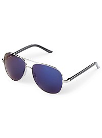 True Nation Blue Mirrored Aviator Sunglasses