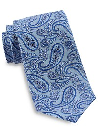 Gold Series Textured Outline Paisley Silk Tie