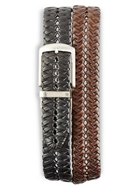 Harbor Bay Reversible Braided Faux-Leather Belt