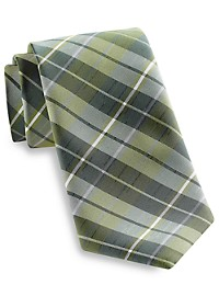 Synrgy Large Textured Plaid Tie
