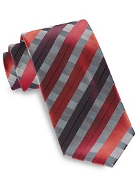 Synrgy Large Ribbon Plaid Tie