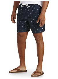 Nautica Anchor-Print Swim Trunks