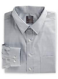 Gold Series Grid-Patterned Dress Shirt