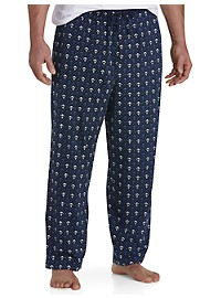 Harbor Bay Anchor-Print Knit Lounge Pants