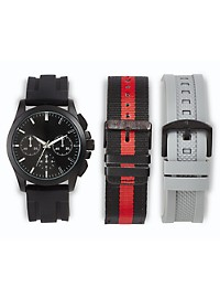 True Nation 3-Strap Watch Set