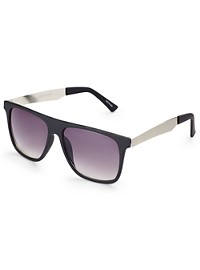 True Nation Plastic Smoke Retro Sunglasses